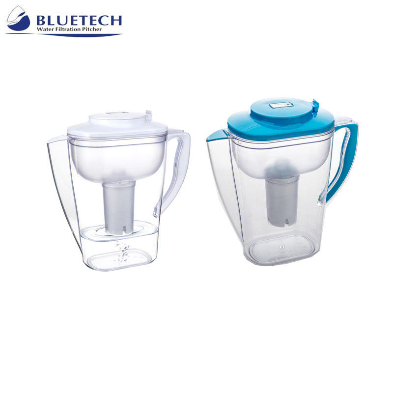 Food Grade Bluetech Water Filtration System , Water Purifier Jug 3.3 L High Filter Capacity