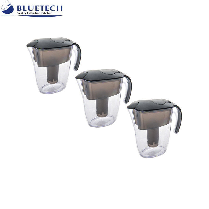 Activated Carbon Resin Alkaline Water Filtration Pitcher 2.4 L Capacity