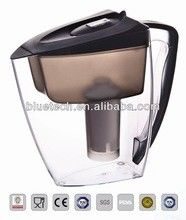 Activated Carbon Resin Alkaline Bluetech Water Filter Pitcher Portable For Household