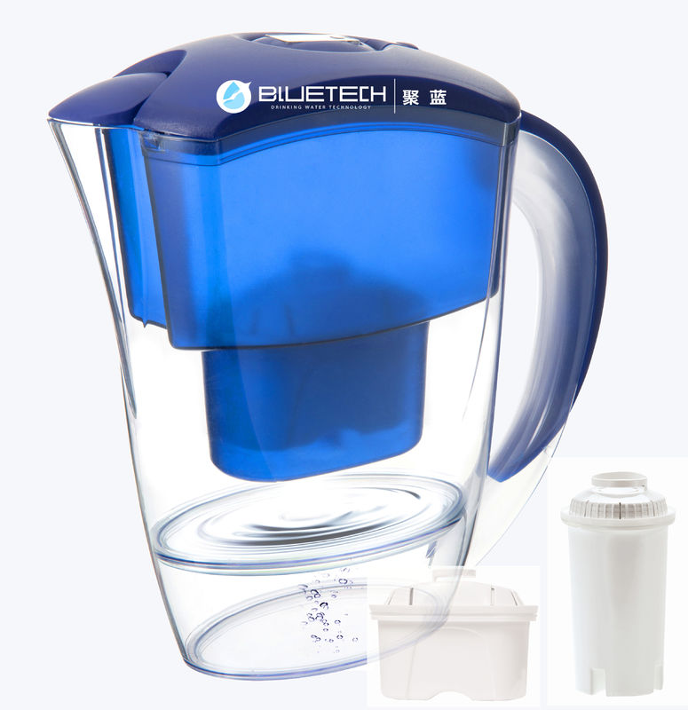 Customized Alkaline Bluetech Water Filter Pitcher CE Approved Serviceable